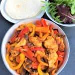 Fajitas-stir-fry-veg-chicken-tortillas-salad