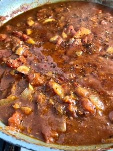 Easy fish curry sauce in pan